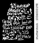 modern graffiti tags on a black ... | Shutterstock .eps vector #1036033198