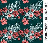 boho pattern. watercolor...   Shutterstock . vector #1036035280
