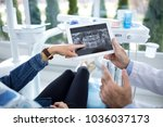 the patient and dentist are...   Shutterstock . vector #1036037173