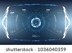 futuristic vector hud interface ... | Shutterstock .eps vector #1036040359