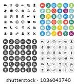 customer service icons set  ...   Shutterstock .eps vector #1036043740
