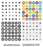 social media icons set  ... | Shutterstock .eps vector #1036043749