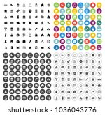 house building icons set  ... | Shutterstock .eps vector #1036043776