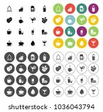drink icons set   vector glass... | Shutterstock .eps vector #1036043794