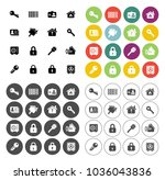 safety and security icons set   ...   Shutterstock .eps vector #1036043836