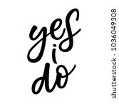 yes i do   wedding hand... | Shutterstock .eps vector #1036049308