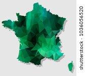 map france2016 map each city... | Shutterstock .eps vector #1036056520