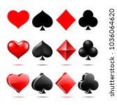 suit of playing cards. vector... | Shutterstock .eps vector #1036064620