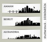 city skylines   middle east  ... | Shutterstock .eps vector #1036068526