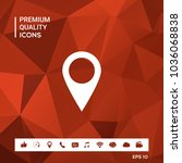 map pointer icon   Shutterstock .eps vector #1036068838