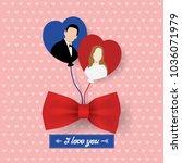 illustration of love card... | Shutterstock .eps vector #1036071979