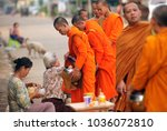 Monks In The Morning In The Ol...