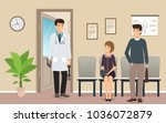 male doctor in uniform meets... | Shutterstock .eps vector #1036072879