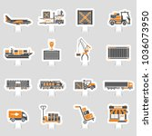 cargo transport  packaging ... | Shutterstock .eps vector #1036073950