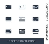 credit card icons set. simple...