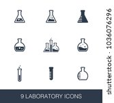 laboratory icons set. simple... | Shutterstock .eps vector #1036076296