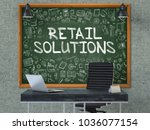 green chalkboard on the gray... | Shutterstock . vector #1036077154