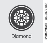 crypto currency diamond. net... | Shutterstock .eps vector #1036077400