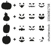 pumpkin carving ideas jack o... | Shutterstock .eps vector #1036081738