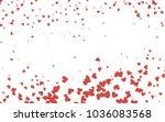 light red vector lovely... | Shutterstock .eps vector #1036083568