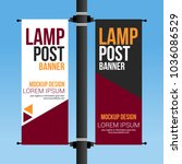 dual lamp post banner abstract... | Shutterstock .eps vector #1036086529