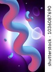 dark pink  blue vertical... | Shutterstock . vector #1036087690