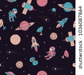 vector seamless pattern with... | Shutterstock .eps vector #1036087864