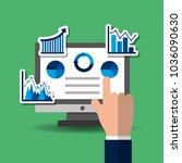 hand pressing screen computer... | Shutterstock .eps vector #1036090630