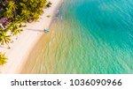 beautiful aerial view island... | Shutterstock . vector #1036090966