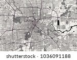 vector map of the city of... | Shutterstock .eps vector #1036091188