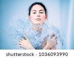 beauty portrait. sensual...   Shutterstock . vector #1036093990