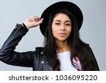 close up portrait of beautiful... | Shutterstock . vector #1036095220
