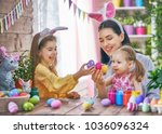 happy holiday  a mother and her ...   Shutterstock . vector #1036096324
