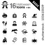 basic   halloween icons