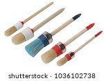 set of different paint brushes... | Shutterstock . vector #1036102738