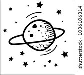 vector illustration on a cosmos ... | Shutterstock .eps vector #1036106314
