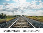 landscape with railroad railway ...   Shutterstock . vector #1036108690