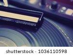 professional dj turntable.vinyl ...   Shutterstock . vector #1036110598