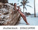 haughty young sexy brazilian... | Shutterstock . vector #1036114900