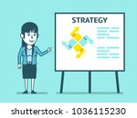 businesswoman points to... | Shutterstock .eps vector #1036115230