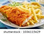 Portion Of Crispy Breaded Fish...