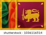 flag of sri lanka waving... | Shutterstock . vector #1036116514