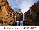 ouzoud waterfalls landscape in... | Shutterstock . vector #1036117849
