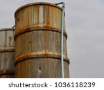 old rusted water tank | Shutterstock . vector #1036118239