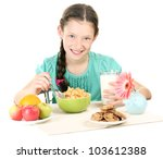little beautiful girl have a... | Shutterstock . vector #103612388
