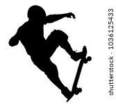 black silhouette of an athlete... | Shutterstock .eps vector #1036125433