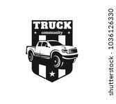 truck car vector logo... | Shutterstock .eps vector #1036126330