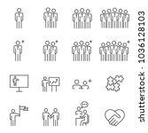 people business vector line...   Shutterstock .eps vector #1036128103