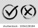 symbolic ok and x icons in...   Shutterstock .eps vector #1036128184