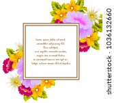 beautiful floral frame for your ... | Shutterstock .eps vector #1036132660